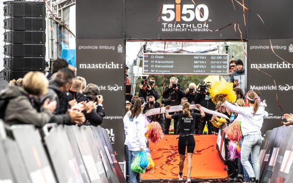 Maya Kingma wint Ironman Maastricht